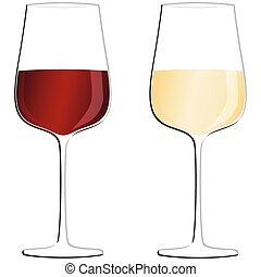 wijn bottelt, bril