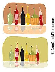 wijn fles