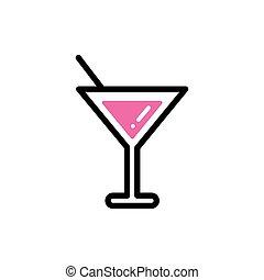 wijn glas, kleur, stijl, lijn