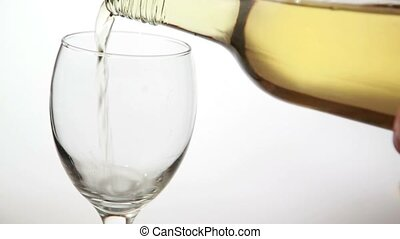 wijn glas, witte , gevulde, wezen