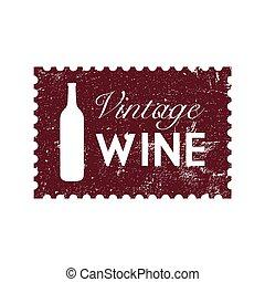 wijntje, ouderwetse , postzegel