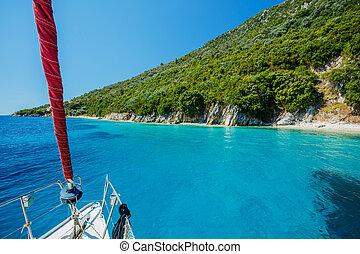 wild, eiland, lefkada, strand, griekenland