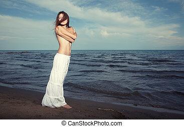 winderig, strand