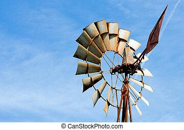windmill boerderij, roestige , oud, landelijk