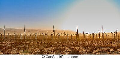 windmill boerderij, zonopkomst