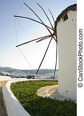 windmolen, griek eilanden