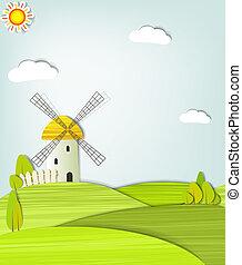 windmolen, landscape