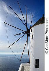windmolen, santorini