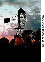 windmolen, zonopkomst