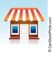 winkel, achtergrond., vector, eps10, pictogram