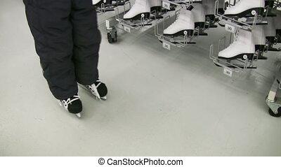 winkel, benen, skates, kind
