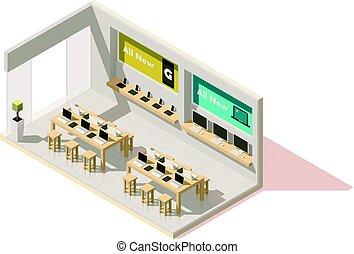 winkel, isometric, vector, gadget