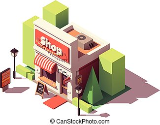winkel, isometric, vector, opening, pictogram