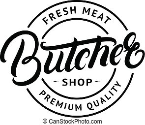 winkel, lettering, badge, slager, overhandiig geschrijvenene, etiket, emblem., logo