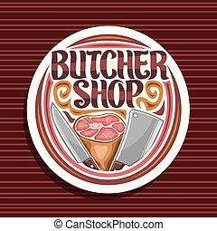 winkel, logo, vector, slager