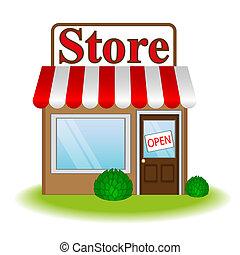 winkel, pictogram, illustratie, vector