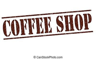 winkel, postzegel, koffie