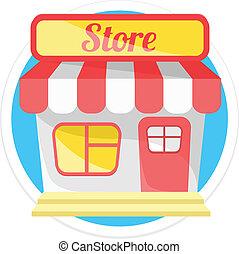 winkel, vector, ronde, pictogram