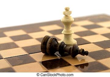winnaar, schaakspel