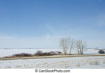 winter, prairies