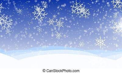 winter, sneeuw, hd, herfst, loop.