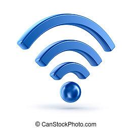 (wireless, network), wifi, pictogram, 3d