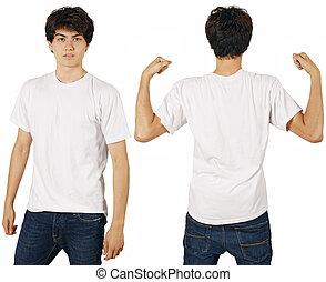 wit mannelijk, hemd, leeg