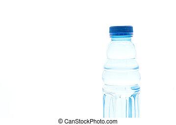 wit water, fles, achtergrond