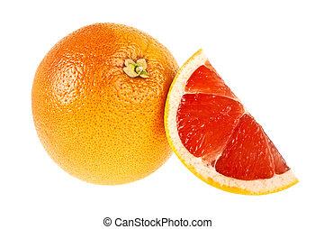 wite grapefruit, segment, achtergrond