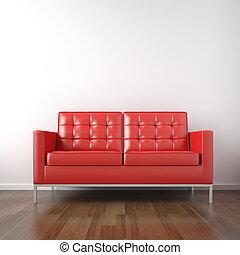 wite kamer, rood, bankstel