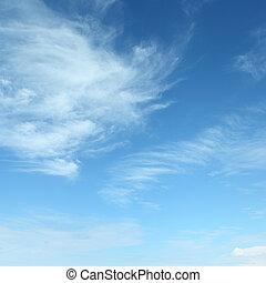wite wolken, pluizig