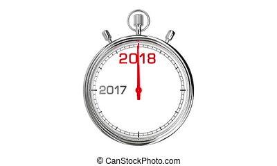 (with, matte), 2018, jaar, stopwatch, nieuw