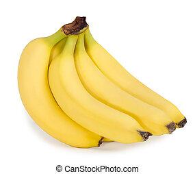 witte , bananen, achtergrond, bos