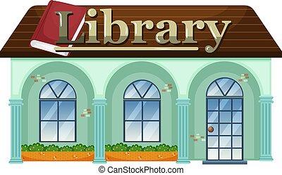 witte , bibliotheek, achtergrond