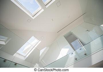 witte , binnen, woning, nieuw, interieur, moderne