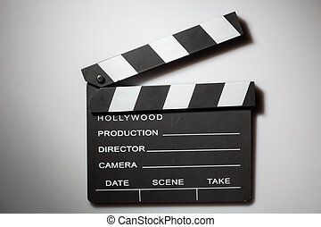 witte , clapperboard, bioscoop