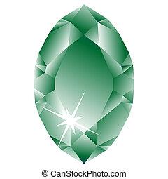 witte , diamant, groene, tegen