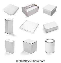 witte , doosje, leeg, container