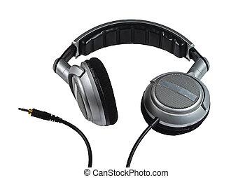witte , headphones, dj, achtergrond