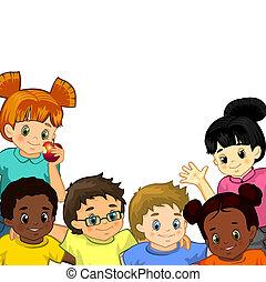 witte , kinderen, achtergrond