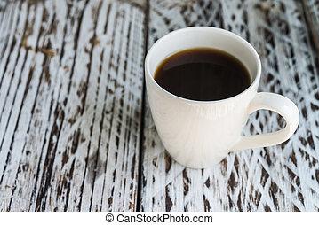 witte koffie, mok