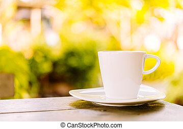 witte kop, koffie, latte