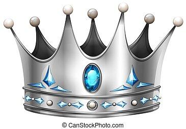 witte , kroon, zilver