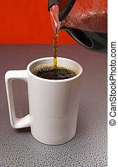 witte , leeg, koffiekop
