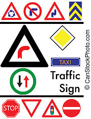 witte , set, verkeer, achtergrond, iconen