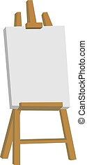 witte , vector, illustratie, achtergrond., schildersezel