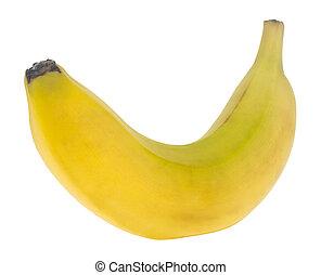 witte , vrijstaand, achtergrond, close-up., banaan