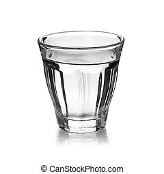 witte , vrijstaand, waterglas, achtergrond