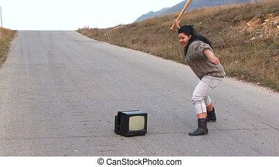 woede, honkbal, televisie, oud