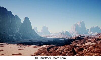 woestijn, rots, nevada, formaties